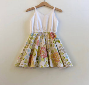 Retro floral twirly dress