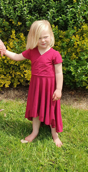 Girls Masala Red Christmas Dress