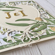 Australiana wedding card, Eucalyptus leaves