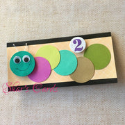 Cute Caterpillar Kids Birthday Card