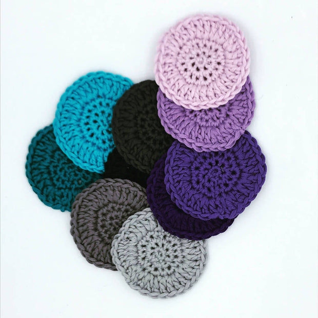 Reusable make up remover pads - 70% bamboo, 30% cotton - pack of 10