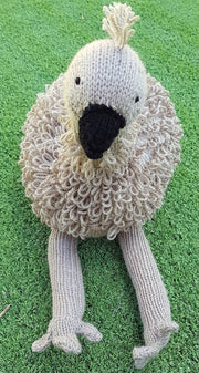 Australian Knitted Emu Eddie | Animal Plush Toy | DSS Handmade