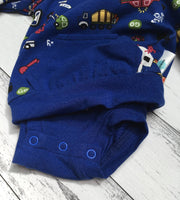 SPECIAL ~ Premmi Baby Boy Bodysuit Jumper with Harlem Footed Pants set, size 00000