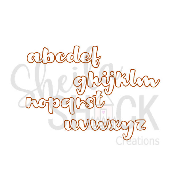 Cute wooden cut outs - Custom name or word style 4