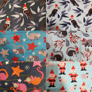 Button Up Shirt - Christmas Fabrics Mens (XS-XXXL)