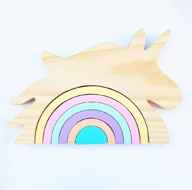 Wooden Unicorn Stackers