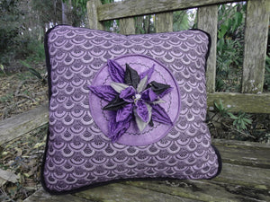 Purple Iris Cushion Cover