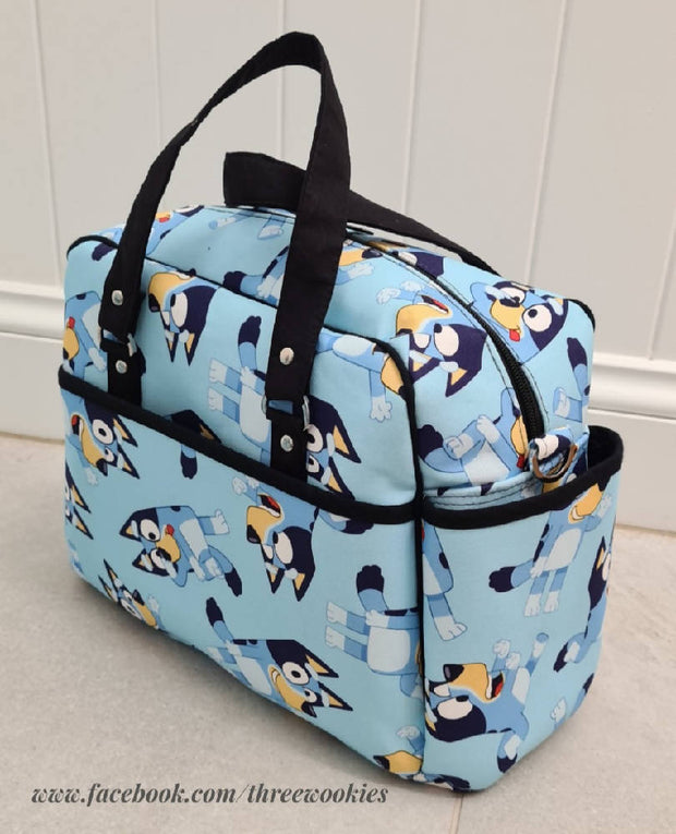Nappy Bag made from Bluey fabric