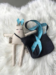 Linen bunny with kids bag 2