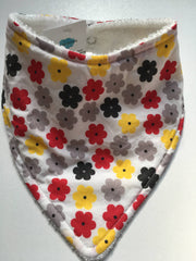 Bandana Bib set of 4 dribble bibs, purples, rainbows