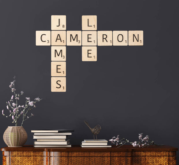 Scrabble Tile Wall Art