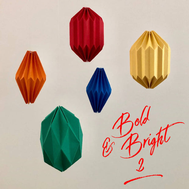 Flying Papper Bird Mobile - 'Bold and Bright #2'