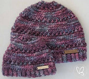 Matching Crochet Beanie Set