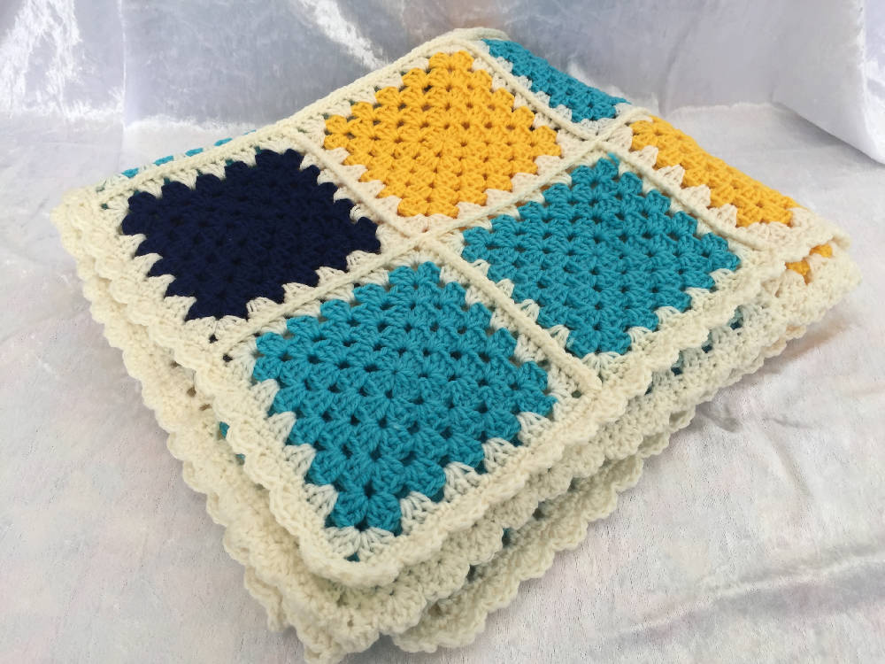 Crochet Handmade Blanket, Throw, Lap Blanket, Child's Blanket