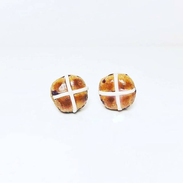 PRE ORDER - Hot Cross Bun Earrings