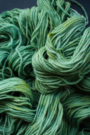 "Hand dyed yarn in ""Sea Green"", 12ply New Zealand Corriedale & Perendale yarn"