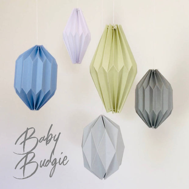 Flying Papper Bird Mobile - 'Baby Budgie'