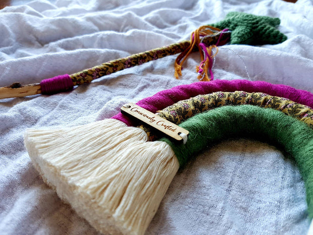 Macrame rainbow and fairy wand - combo packs