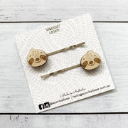 Sloth hair pins