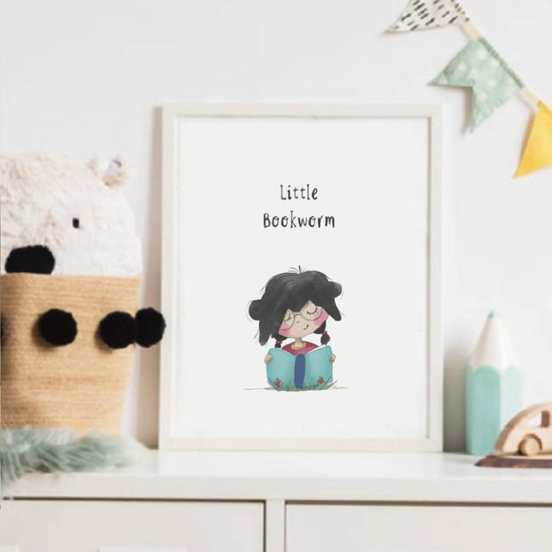 Little People Series - Little Bookworm print