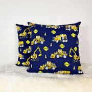 Construction print cushion cover