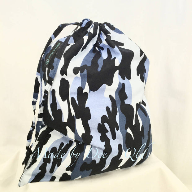 Drawstring Bag - BLUE CAMO