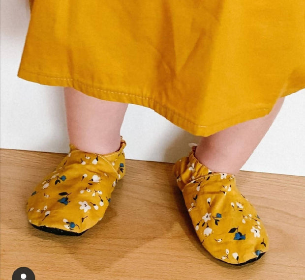 Spring Mustard soft soled shoes