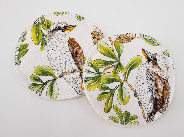 Kookaburras WATER RESISTANT Breastfeeding/nursing pads