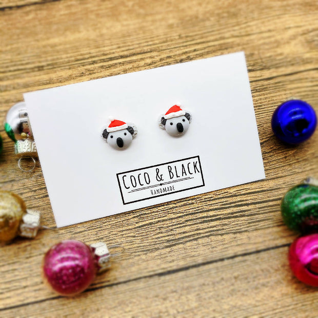 Christmas Koala Earrings Coco and Black