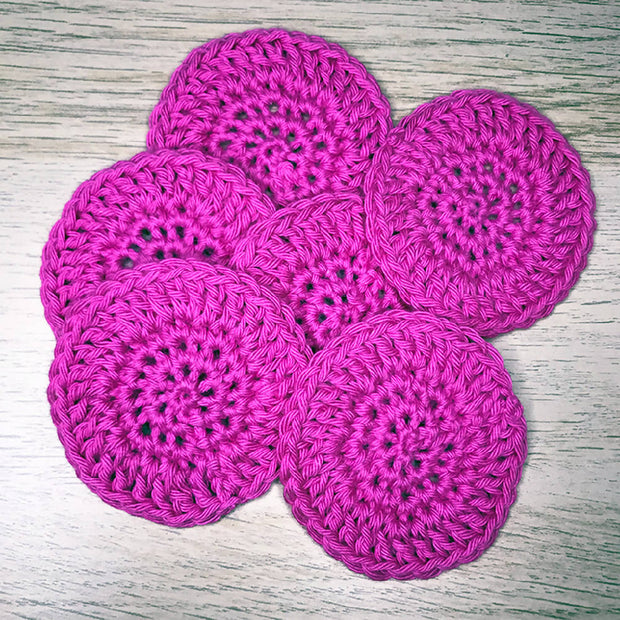 Reusable make up remover pads - 100% cotton - pack of 10