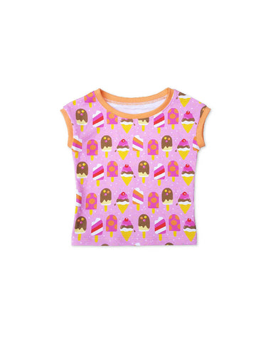 pink girls t-shirt, ice cone shirt, toddler summer outfit