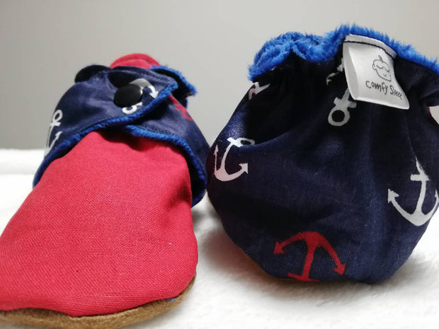 Nautical soft soled winter boots