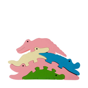 Crocodile Wooden Animal Puzzle
