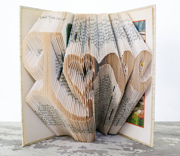 Love with heart book fold