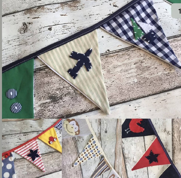 Personalised Fabric Bunting Flag Banner