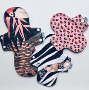 WILD Blush Reusable Cloth Pads and Liners Trial Pack & Starter Bundles