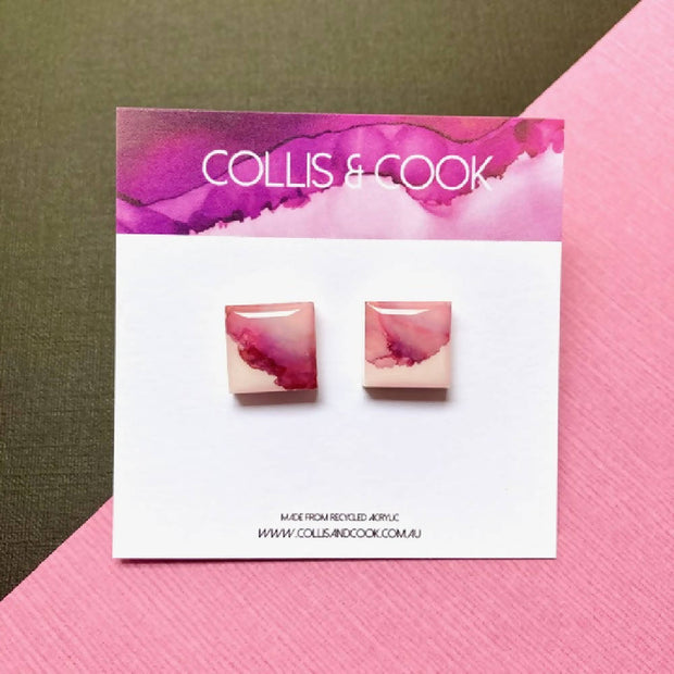 Square Studs- Various Colours 13mm