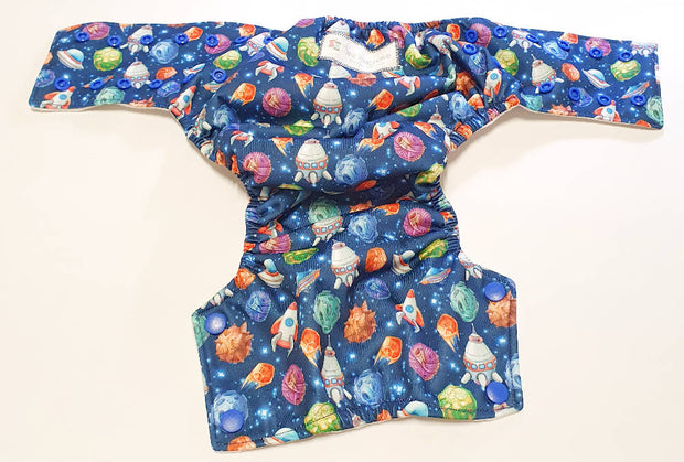 Spaceship Modern Cloth Nappy Shell