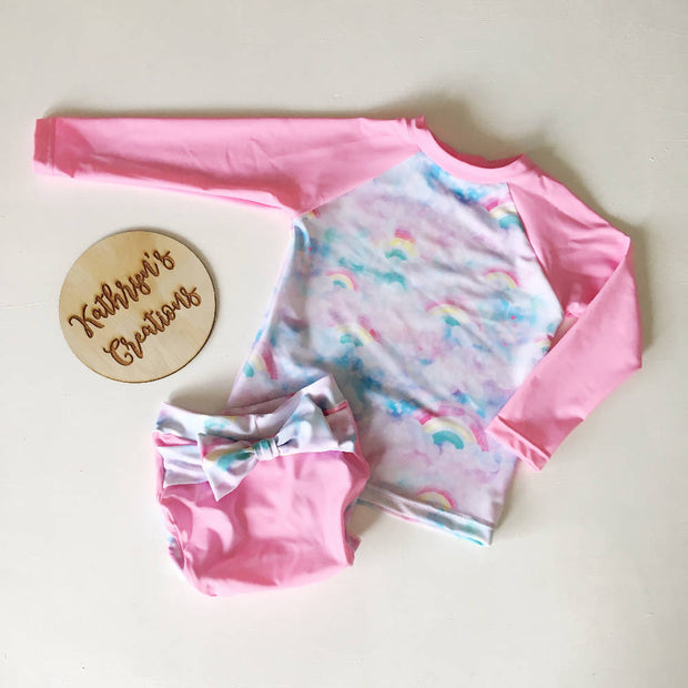 Rainbow Clouds Baby Swim Set