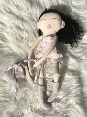 Black curly hair doll 1