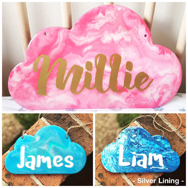 Personalised Resin Cloud Door Sign