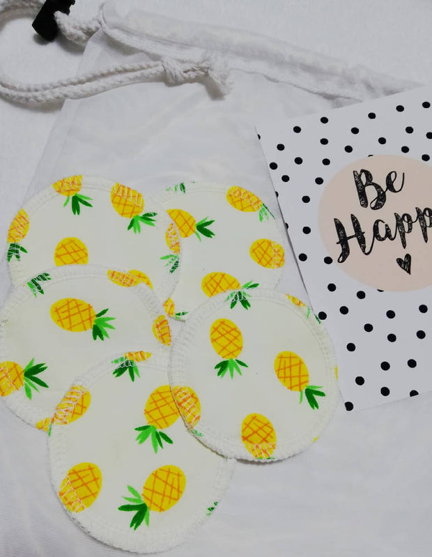 Pineapples Reusable face pads