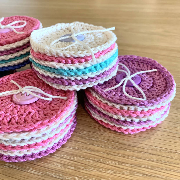 7 PACK OF 100% COTTON FACE SCRUBBIES