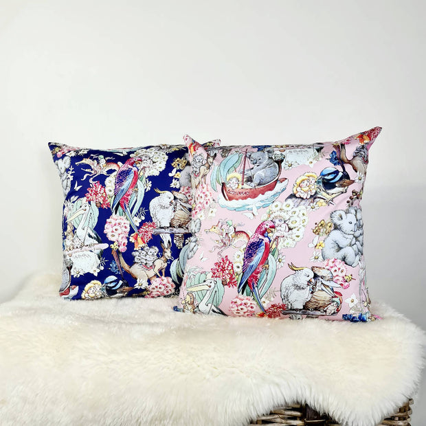 May Gibbs Cushion Cover (18inch) in Pink or Blue.