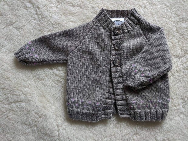Fair Isle Grey Brown Plain Cardigan