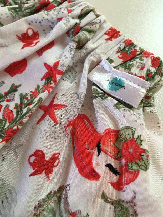 SPECIAL ~ *Last One! Christmas Mermaid themed Skirt, Size 1