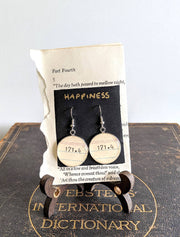 Happiness (171.4) Dewey Decimal System Earrings.