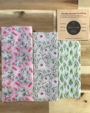Reusable Beeswax Wrap pack 3