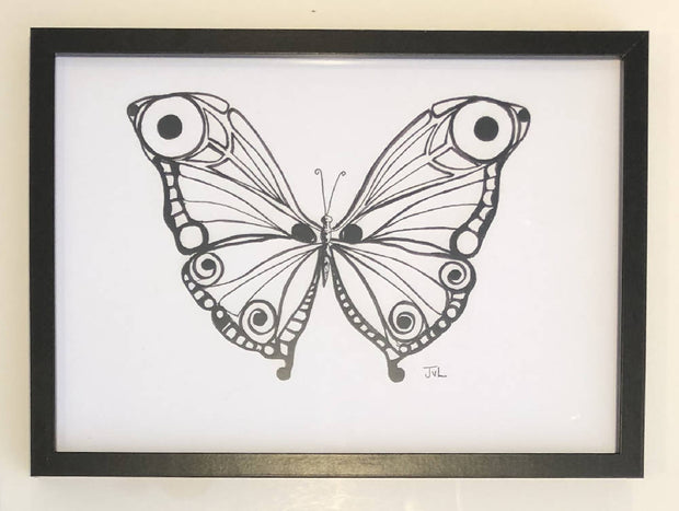 Butterfly 10 - Black & White Print