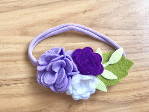 Purple Spring Flower Headband